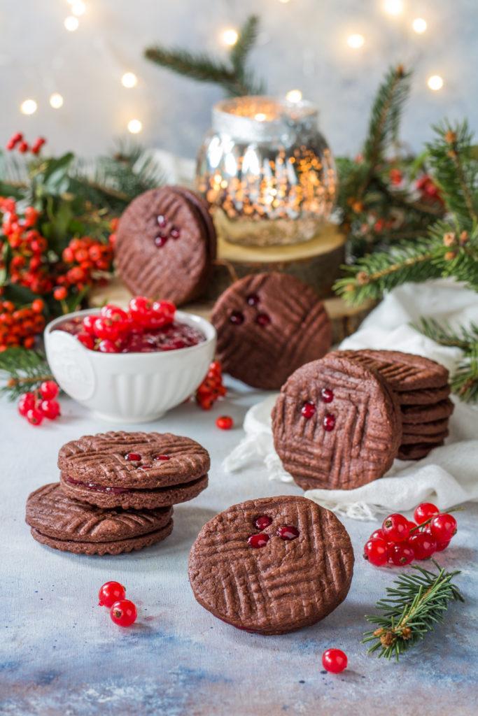Biscotti facili e veloci cacao e ribes senza attrezzi