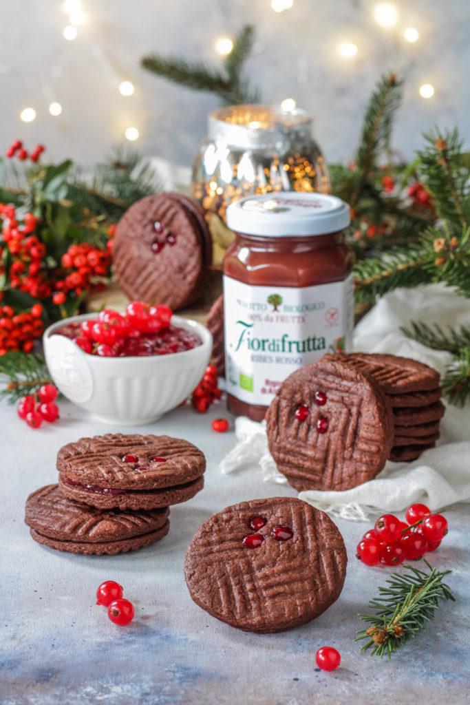 Biscotti facili e veloci cacao e ribes Rigoni di Asiago