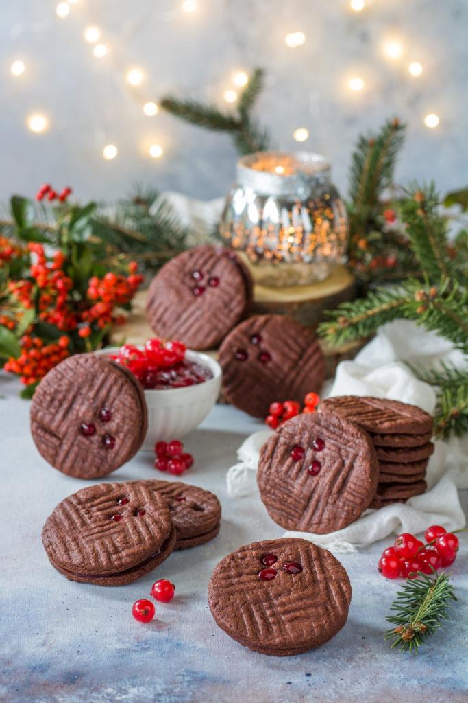Biscotti facili e veloci cacao e ribes