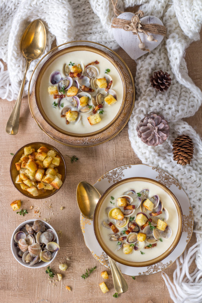 Clam chowder - zuppa patate e vongole New England