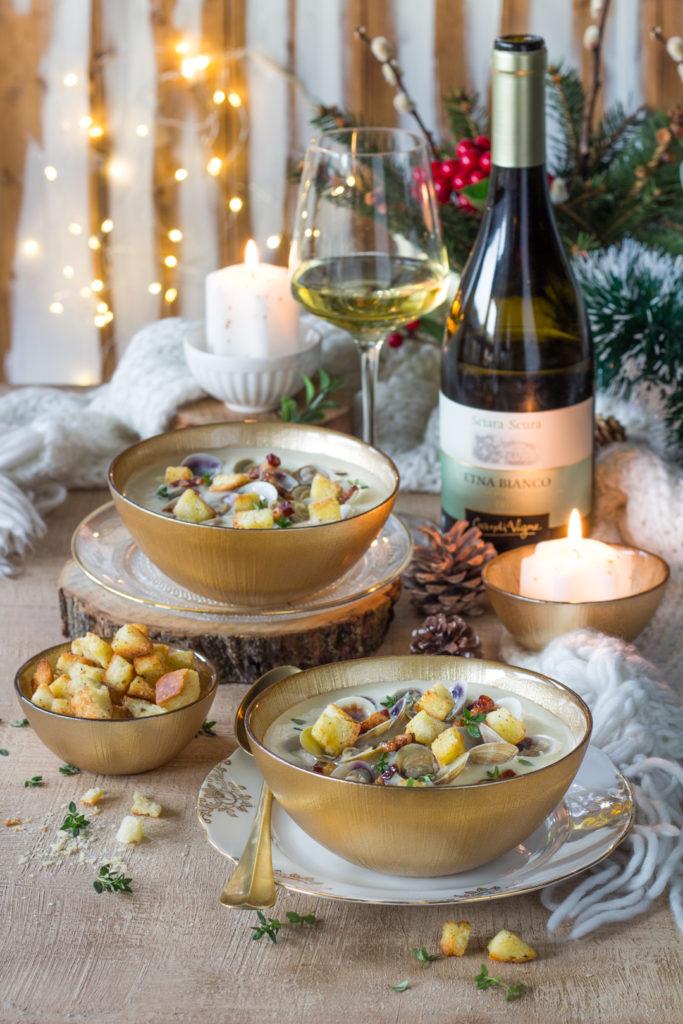 Clam chowder - zuppa patate e vongole Iper la grande i