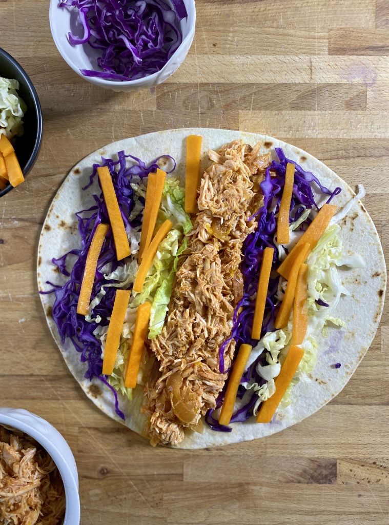 Chicken wrap con slow cooker