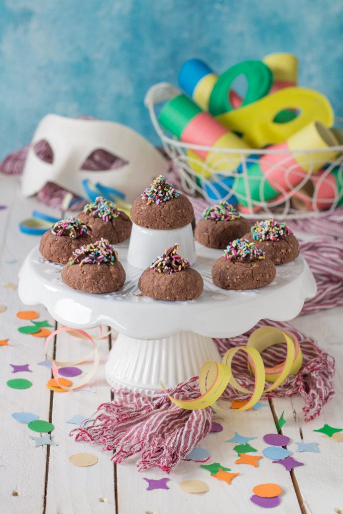 Nocciolotti integrali dolci di Carnevale senza frittura