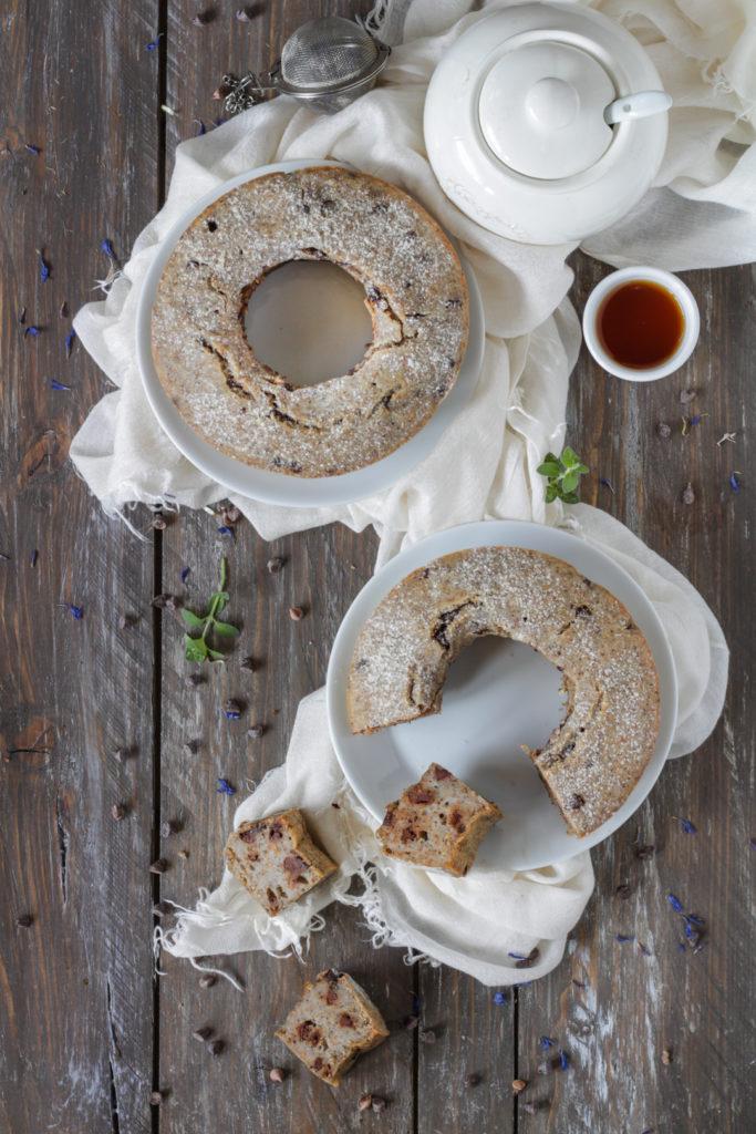 Torta veloce grano saraceno soia e cioccolato vegan con yogurt di soia