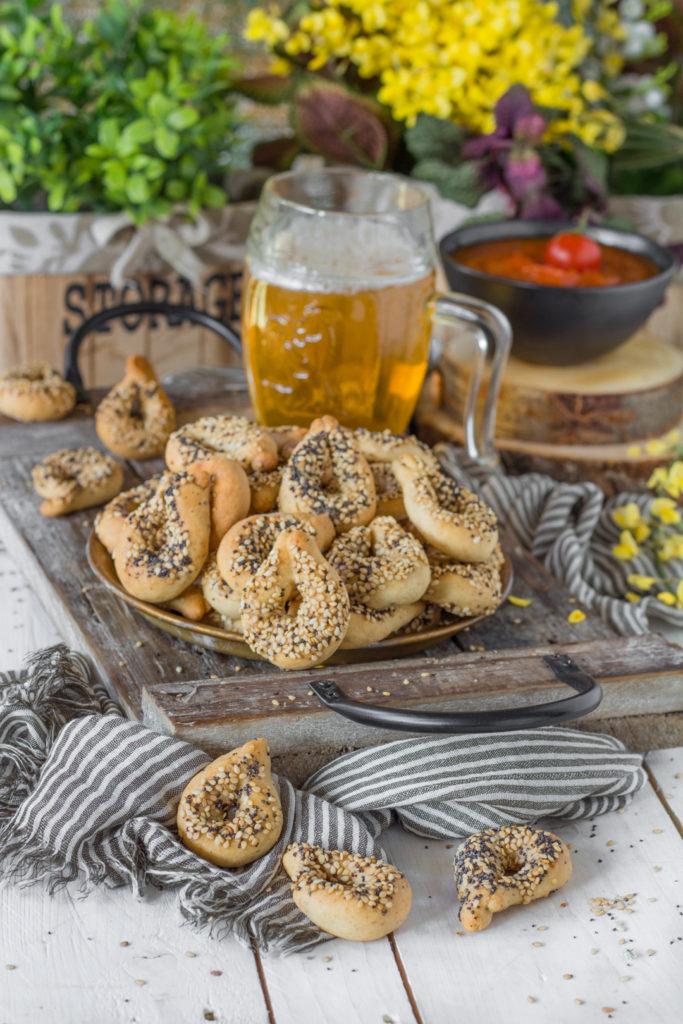 tarallini veloci alla birra e semi