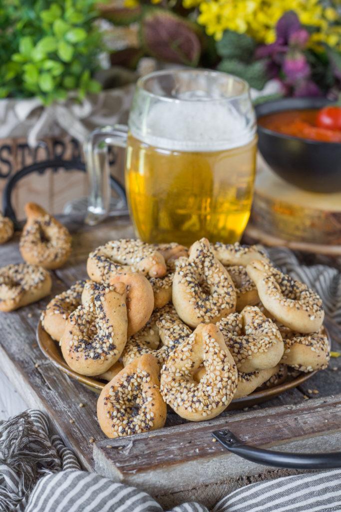 tarallini veloci alla birra e semi senza precottura