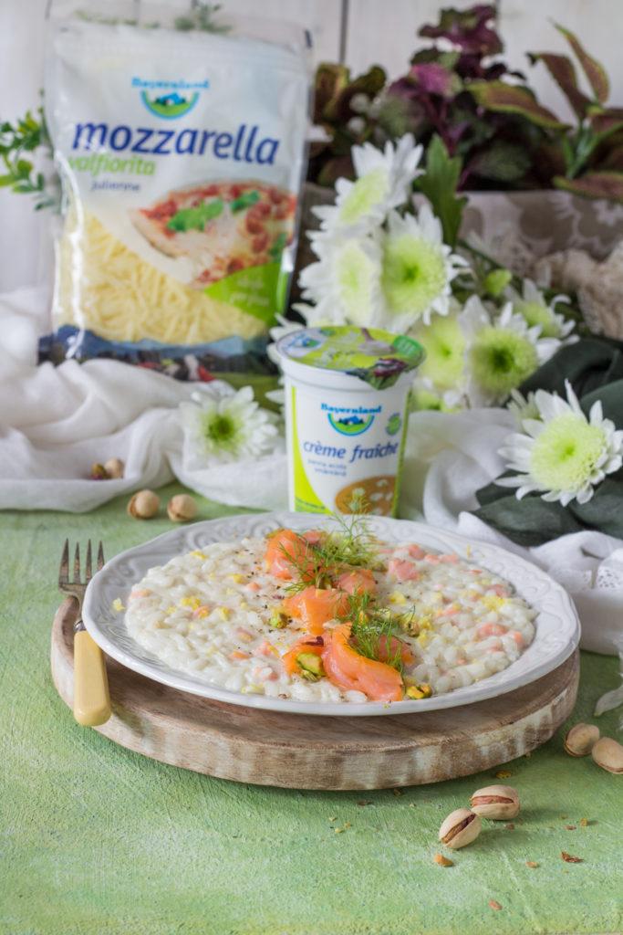 Risotto alla creme fraiche con finocchi e salmone Bayernland italia