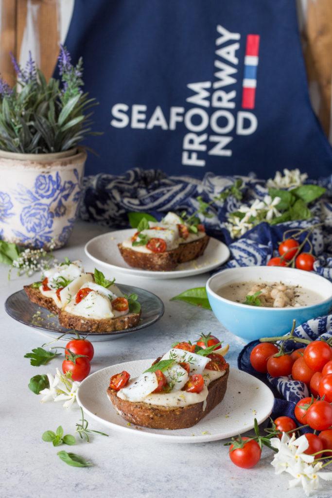 Baccalà al vapore con cannellini e pomodori confit seafood from norway